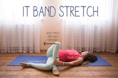 a Yoga Question Pin now practice later a great stretch for the IT band Wearing Sweaty Betty tank fabletics leggingsPin now practice later a grea. Hatha Yoga, Sup Yoga, Restorative Yoga, Pilates, Yoga Inspiration, Yoga Fitness, K Tape, It Band Stretches, Yoga Sport