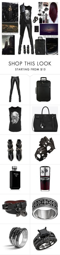 """▲ Over the hills and far away. A million miles from L.A. Just anywhere away with you. I know we've got to get away. Someplace where no one knows our name. We'll find the start to something new. ▲"" by blueknight ❤ liked on Polyvore featuring Balmain, Dolce&Gabbana, Alexander McQueen, Yves Saint Laurent, Aspinal of London, Ciaté, Prada, MAC Cosmetics and John Hardy"