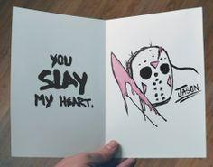 Horror-Themed Valentines Card: Jason