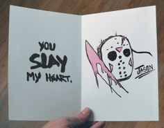 Horror-Themed Valentines Card: Jason
