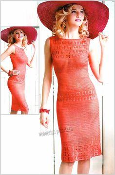 Восхитительное женственное платье связано крючком двумя узорами из вискозы, которая прекрасно облегает фигуру и при этом приятно холодит кожу....Размер платья: 44 (Россия) или 38 (Европа)..Для выполнения платья крючком нам потребуется:...пряж...