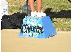 Cheyenne's Cheer JV Cheer box last yr. heeeey it's got my name and graduating year!! It's perfecto!