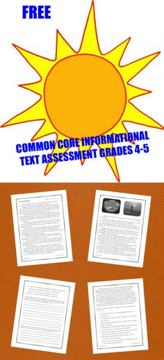 Grab this FREE non-fiction passage on our beautiful star, the Sun. The follow-up assessments align with three Common Core Informational Standards for Grades 4-5. Ideal for a close reading practice!