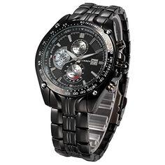 OrrOrr Edelstahl Curren Uhr Herrenuhr Armband Uhr Quartz Sport Uhr Armbanduhr Black - http://on-line-kaufen.de/orrorr-8/orrorr-curren-herren-uhr-analog-quarzuhr-schwarz-2