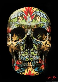 This would be cool framed-LOVE sugar skulls!