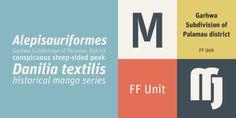 FF Unit® - Webfont & Desktop font « MyFonts Great Fonts, New Fonts, Contemporary Fonts, Font Face, Sans Serif Fonts, The Unit, Logos, Desktop, Collection