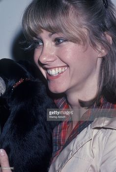 Singer Olivia Newton-John at a local ASPCA animal shelter in New York City on May 12, 1977.