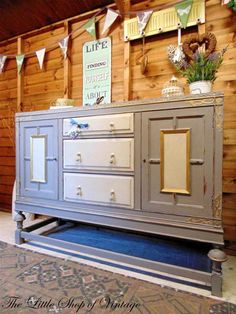 Beautiful Painted Shabby Chic Pine Corner Unit Storage Shelves - 6 beautiful diy shabby chic dressers and sideboards