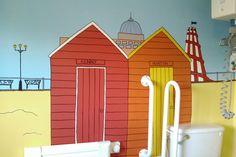 beach murals for kids rooms | cartoon murals for children's rooms