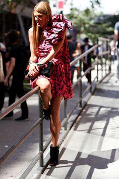 Street style #NYFW S/S 2015 #streetstyle #fashion #stylishpeople