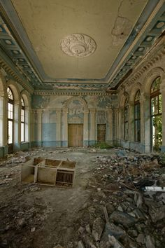 where is this treasure???    This is an abandoned railway station in Abkhazia, former Russian territory.
