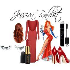 jessica rabbit, asos, topshop dress, mac cosmetic lipstick, dior mascara, red long wig, halloween costume, halloween inspiration, elisa bellino, theladycracy, fashion blog milano, fashion bloggers milano,