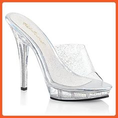 f3065495ec84 Sexy Shoes Sexy Shoes - Pleasers Fabulicious Brand Sexy Clear Shoes with a  5 Inch Heel