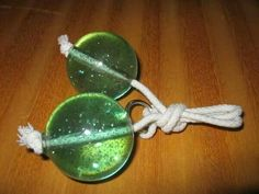 Clackers.  I still remember the sound! Mine were purple.