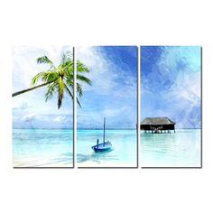 Alexis Bueno 'Tropical' Canvas Wall Art 3-piece Set | Overstock.com Shopping - Top Rated Ready2hangart Canvas
