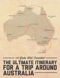 The ultimate itinerary for a trip around Australia - visits every capital city and all 8 states and territories, and includes 4 road trips and 6 of the best national parks / natural wonders Australia has to offer! Click through for the detailed itinerary. Australia Méi Informatiounen zu eisem Site https://storelatina.com/australia/travelling #Avustralya #Австралия #Austraalia #អូស្ត្រាលី