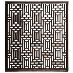 Chinese Lattice Panel: