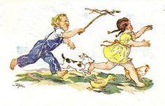 Marie Kvechova-Fischerova Vintage Children, Easter, Drawing, Retro, Illustration, Painting, Fictional Characters, Xmas, Tutorials