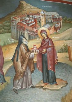 Religious Icons, Religious Art, Orthodox Prayers, Orthodox Icons, Fresco, Princess Zelda, Painting, Fictional Characters, Inspiration