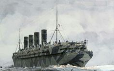 RMS Mauritania in WWI Dazzle Paint