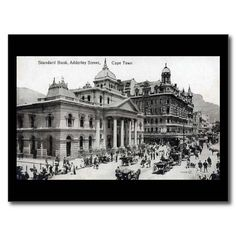 Shop Old Postcard - Cape Town, South Africa created by Personalise it with photos & text or purchase as is! Cape Town South Africa, Old Postcards, Historical Pictures, Old Photos, African, History, Africa People, Banana Nut, Travel