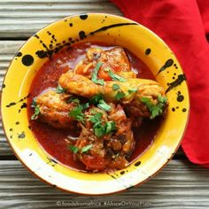Angola's Chicken Moamba combines the palm oil hot scotch bonnet peppers and tomatoes into a rich delicately flavoured stew Albanian Recipes, Red Palm Oil, Scotch Bonnet Pepper, Recipe Today, Today's Recipe, National Dish, Aromatic Herbs, Chicken Tenders, International Recipes