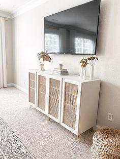 Credenza Ikea, Ikea Console Table, Ikea Ivar Cabinet, Ikea Cabinets, Sideboard Buffet, Ikea Media Console, Ikea Buffet, Ikea Table Hack, White Credenza