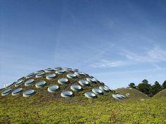 Renzo Piano, ACADEMIA DE LAS CIENCIAS, GOLDEN GATE PARK, SAN FRANCISCO CALIFORNIA Es uno de los pocos edificios sostenibles de Renzo Piano.En su construcción utilizó pantalones vaqueros reciclados como elemento aislante.