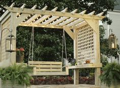 dream pergola plan 33 Something very simple like this in middle front? or just a swing to the right of the front door