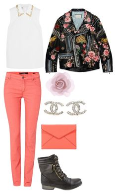 """""""Maxwell Parmalee"""" by mia-a-oviatt on Polyvore featuring Oui, Miu Miu, Celebrity NYC, Gucci, Chanel, Accessorize, Rebecca Minkoff, women's clothing, women and female"""