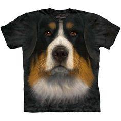 The Mountain BERNESE MOUNTAIN DOG FACE T-Shirt S-3XL Big Head Berner Tee NEW! #TheMountain #GraphicTee
