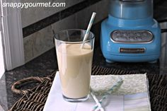 Peaches and Vanilla Cream Smoothie, is a quick peach smoothie recipe with greek yogurt and cream cheese for an easy after school snack or anytime.