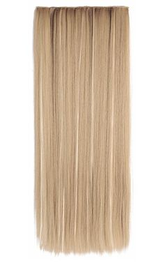 """OneDor 24"""" Straight 3/4 Full Head Synthetic Hair Extensions Clip on Hairpieces (27XH613 Highlights)"""