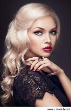 Beautiful makeup and blonde hair