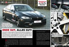 The Schmiedmann-tuned BMW F10 -S5- 550I featured in BMW Scene.