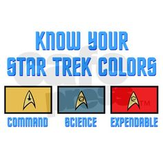 """""""Unless you're Scotty or Uhura."""""""