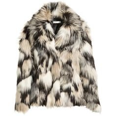 H&M Faux fur jacket (1.078.725 IDR) ❤ liked on Polyvore featuring outerwear, jackets, fleece-lined jackets, h&m jackets, fake fur jacket, faux-leather jackets and lapel jacket