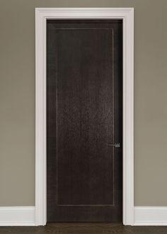 Modern Rift-Cut Oak Solid Wood Front Entry Door - Single - GDIM-MD1005