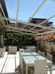Brescia. Private terrace. A peaceful and relaxing corner suspended above the city rooftops.