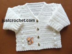 Free baby crochet pattern v-neck cardigan usa