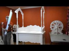 How to assemble Craftsman Built Collapsible Candy Cart for weddings, parties. Event display Stand - YouTube