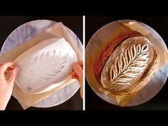 Learn how the bakery gets beautiful patterns on bread. Artisan Bread Recipes, Sourdough Recipes, Sourdough Bread, Cooking Bread, Bread Baking, Bread Starter, Bread Art, Types Of Bread, Pains
