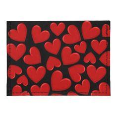 Customizable Puffy Hearts Tyvek® Card Wallet