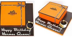 Hermes box cake with sugar CDC cuff. Christmas gift idea for the love of your li - Hermes Box - Ideas of Hermes Box - Hermes box cake with sugar CDC cuff. Christmas gift idea for the love of your life perhaps?