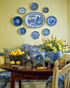 Image result for yellow and blue italian ceramics