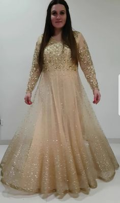 Gold glitter Indian outfit