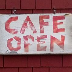 An artist casually made this Cute Sign for us when we first opened Red House Café more than 17 years ago. We love this hand-painted sign and still use it to this day! Learn more about the History of our restaurant at www.redhousecafe.com