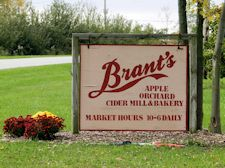 Brant's Apple Orchard Products offered include Full Bakery, Fresh Cider, Farmers Market, Asian Pears, Grapes, Pumpkins, Famous Apple Cider Slushies, and Apple Cider Donuts.   4749 Dibble Rd., Ashtabula, Ohio 44004 Open August 14th through Thanksgiving.   Tuesday-Sunday 10am-6pm (440) 224-0639