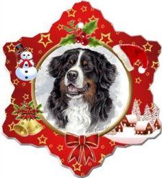 Bernese Mountain Dog Porcelain Christmas Ornament