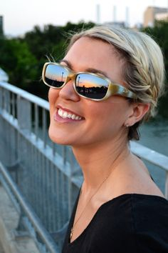 Queeda™ Ivory Tusk (Polarvue® Amber) by Jonathan Paul® the Original Fitovers Eyewear™ - they fit comfortably over your prescription sunglasses! No more switching between Rx shades and glasses or spending a fortune on transition lenses - just slide these lightweight sunnies over your glasses.